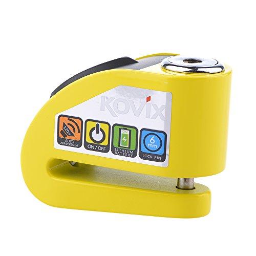 قفل ديسك بريك مع جهاز انذار لون اصفر